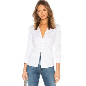 Bailey 44 White Tallula Twist Front Shirt